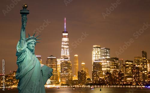 Miasto Nowy Jork Manhattan w centrum linia horyzontu