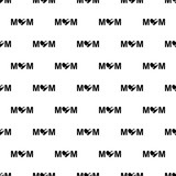 inscription mom icon in Pattern style