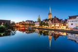 Altstadt von Lübeck bei Nacht