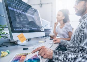 Website design. Developing programming and coding technologies. © REDPIXEL