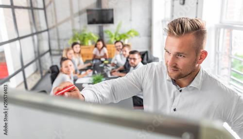 Leinwandbild Motiv Business coach concept.