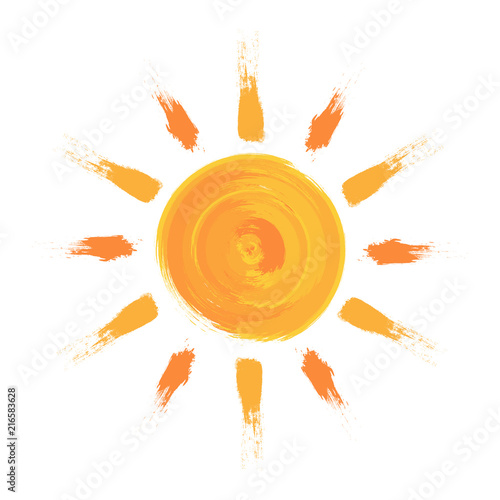 Malowane słońce