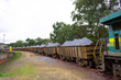 Quadro Train transporting iron ore in Itabira, Minas Gerais
