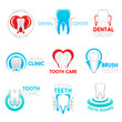 Постер, плакат: Dental clinic and dentistry symbol with tooth