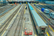 Toronto, Ontario, Canada-26 June, 2018: Toronto Go Train arriving at Union station