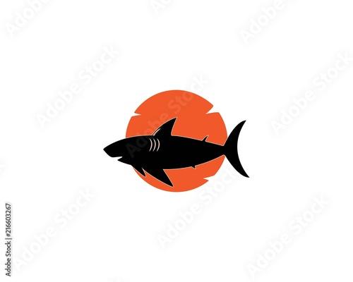 Fototapeta shark logo template