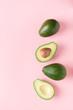 Half and full raw avocado minimalism pastel - 216607818
