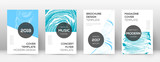 Cover page design template. Modern brochure layout. Cool trendy abstract cover page. Pink and blue g - 216610426