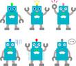 おもちゃのロボットのイラストセット