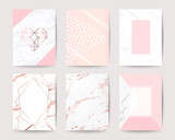 pink and rose gold marble background vector collection design for wedding invitation cards ,cover, poster, banner and packaging design