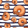 donuts seamless pattern vector illustration