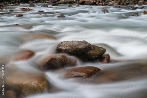 Fotobehang Donkergrijs Long exposure of rapids along the River.Rize,Turkey