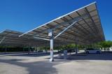 Panneau photovoltaïque ombrière pour voiture