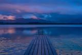 Sommer Abend mit Regen am See in den Bergen - Hopfensee