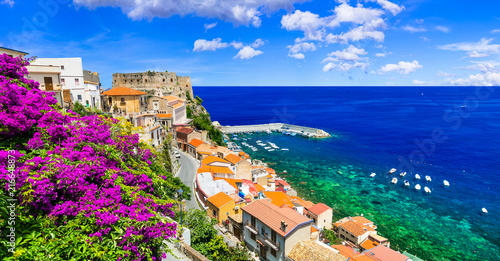 Fotobehang Freesurf Beautiful coastal town Scilla in Calabria. Italy