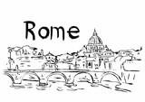 Rome capital city illustration
