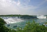 Both streams of Niagara falls.
