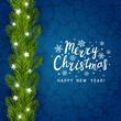 Greeting card with Christmas tree border
