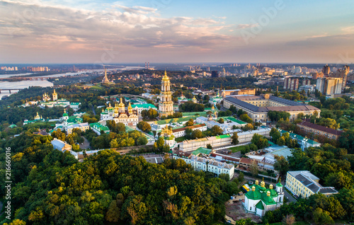 Canvas Kiev Aerial view of Pechersk Lavra in Kiev, the capital of Ukraine