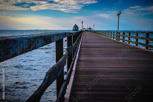 Aluminium Pier An der Ostseeküste