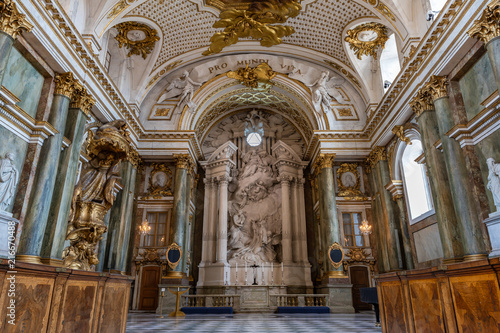 In de dag Stockholm STOCKHOLM, SWEDEN - July 7, 2018 : The beautiful interior of Royal Chapel in the Sweden Royal Palace