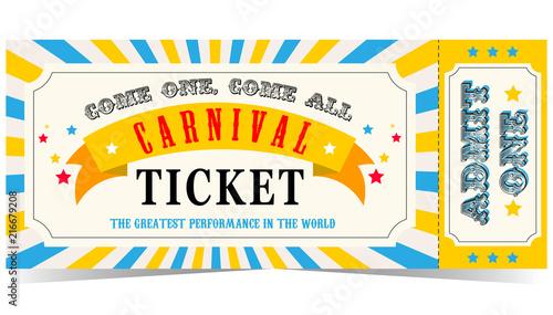 Carnival ticket