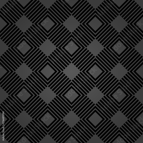 Geometric abstract vector pattern. Geometric modern dark ornament. Seamless modern background - 216681094