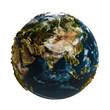 Leinwanddruck Bild - Terre relief