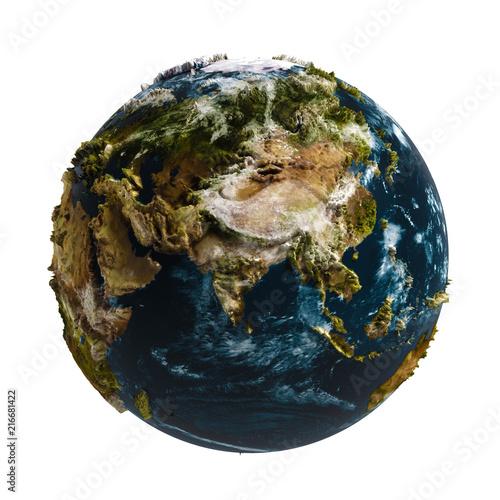 Leinwanddruck Bild Terre relief