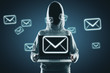 Leinwanddruck Bild - Email and hacking concept