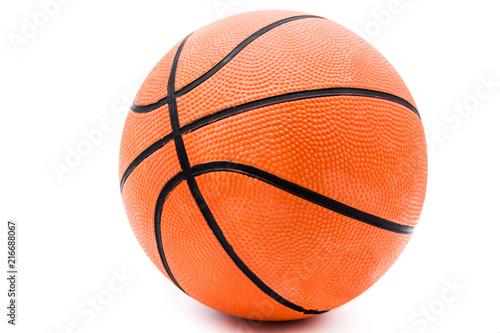 Foto Spatwand Basketbal Basketball isolated on white background.