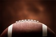 Quadro American football ball on background
