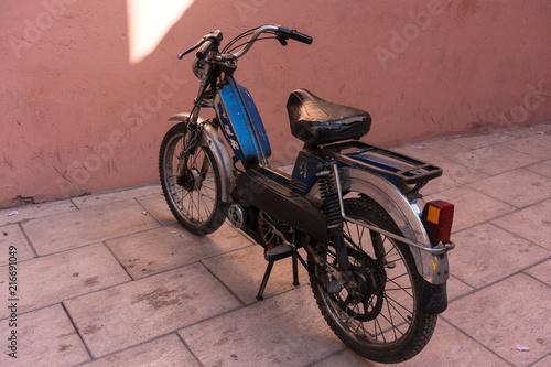 Aluminium Fiets old vintage retro motorcycle or motorbike