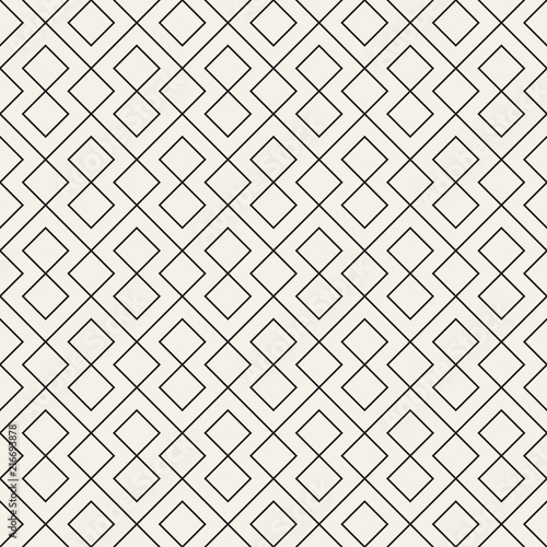 Vector seamless pattern. Modern stylish abstract texture. Repeating geometric tiles.. - 216693878
