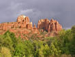 Cathedral Red Rocks near Oak Creek in Sedona, Arizona