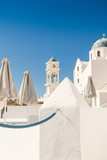 typical Santorini church in Greece in the Cyclades - 216697073