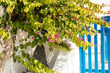 typical architecture of houses on the island of Santorini in Greece in the Cyclades - 216697402