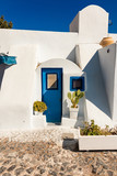 typical architecture of houses on the island of Santorini in Greece in the Cyclades - 216698011