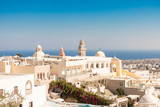 typical Santorini church in Greece in the Cyclades - 216698474