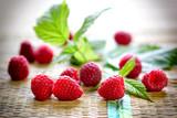 Healthy organic raspberry - fresh organic food, vegetarian food