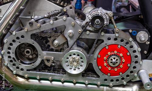 In de dag Fiets old motorcycle engine