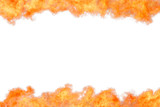 Bright orange flame border template isolated - 216715207