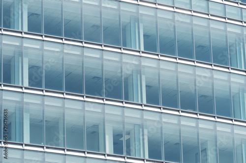 Foto Murales glass windows of modern office building