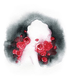 beautiful woman. fashion illustration. watercolor painting - 216718002