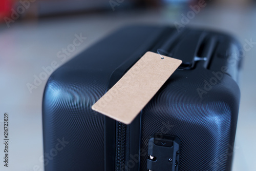 Foto Murales luggage with blank tag