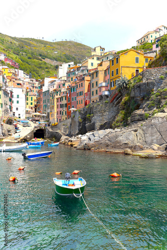 In de dag Liguria view of Cinque Terre