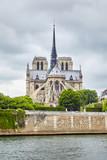 River Seine and Notre Dame de Paris, Paris, France, Europe