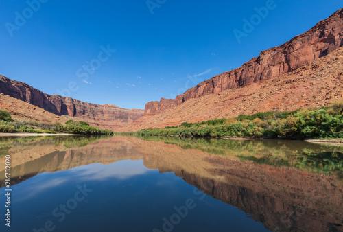 Sceniczny Kolorado Rzeki Krajobraz Moab Utah