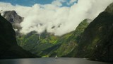 Beautiful Fjord Norway. Summertime in one of the must beautiful fjords in the world. Kodak LUT - 216732658