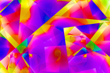 Saturated rainbow abstract © Heather